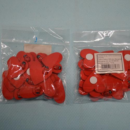 Buba mara na srcu dekoracija pakovanje od 24 komada