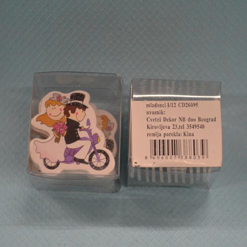 Mladenci stiker dekoracija pakovanje 12 komada