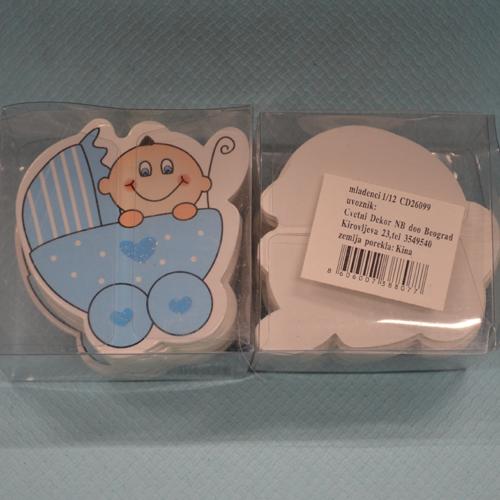Beba u kolicima stikeri 12 komada dekoracija