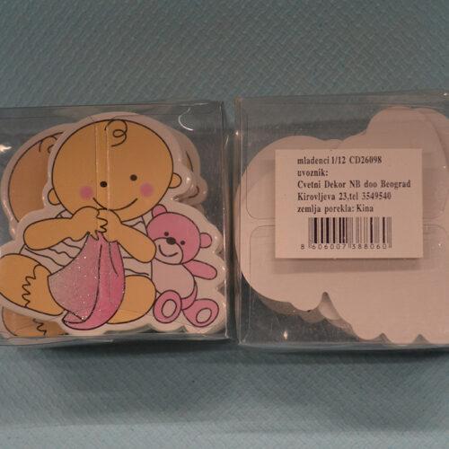 Stiker beba sa medom