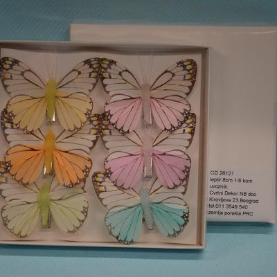 Leptiri set od 6 komada dekoracija