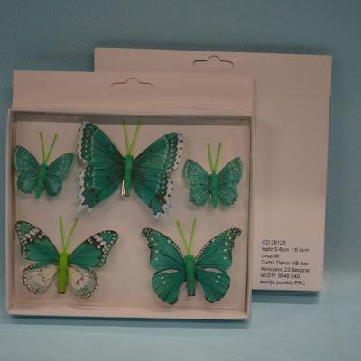 Leptiri set od 5 komada dekoracija
