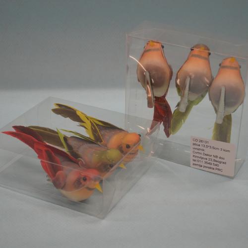 Ptica set od 3 komada dekoracija