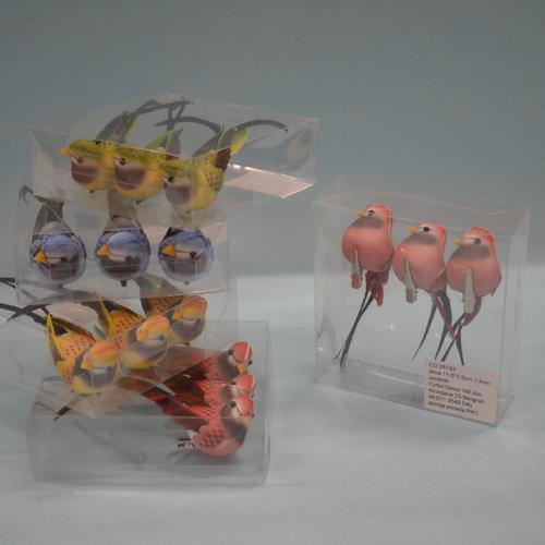 Ptice set od 3 komada raznobojne dekoracija