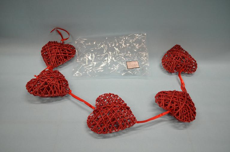 Srce gerlanda 12cm dekoracija