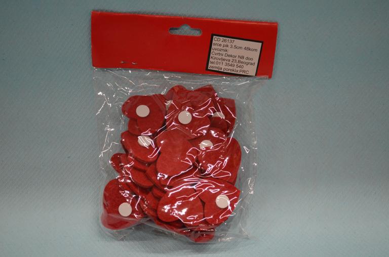 Srce pik set od 48 komada dekoracija