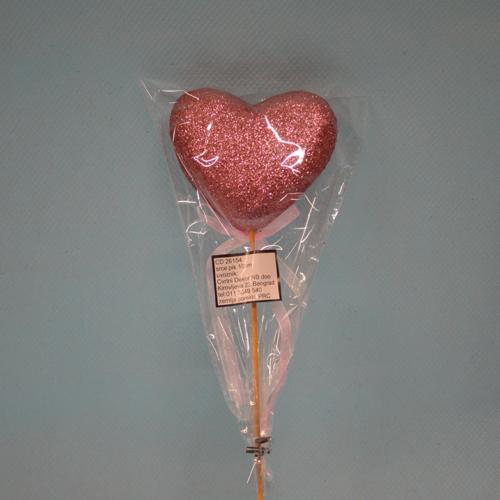 Srce pik 10cm dekoracija