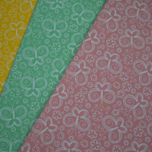 Ukrasni papir sa leptirima u više boja