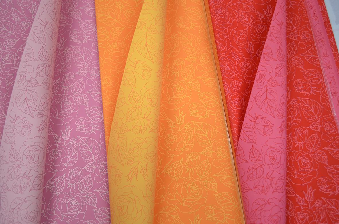Ukrasni papir u raznim bojama