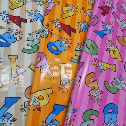 Dečiji ukrasni papir sa brojevima